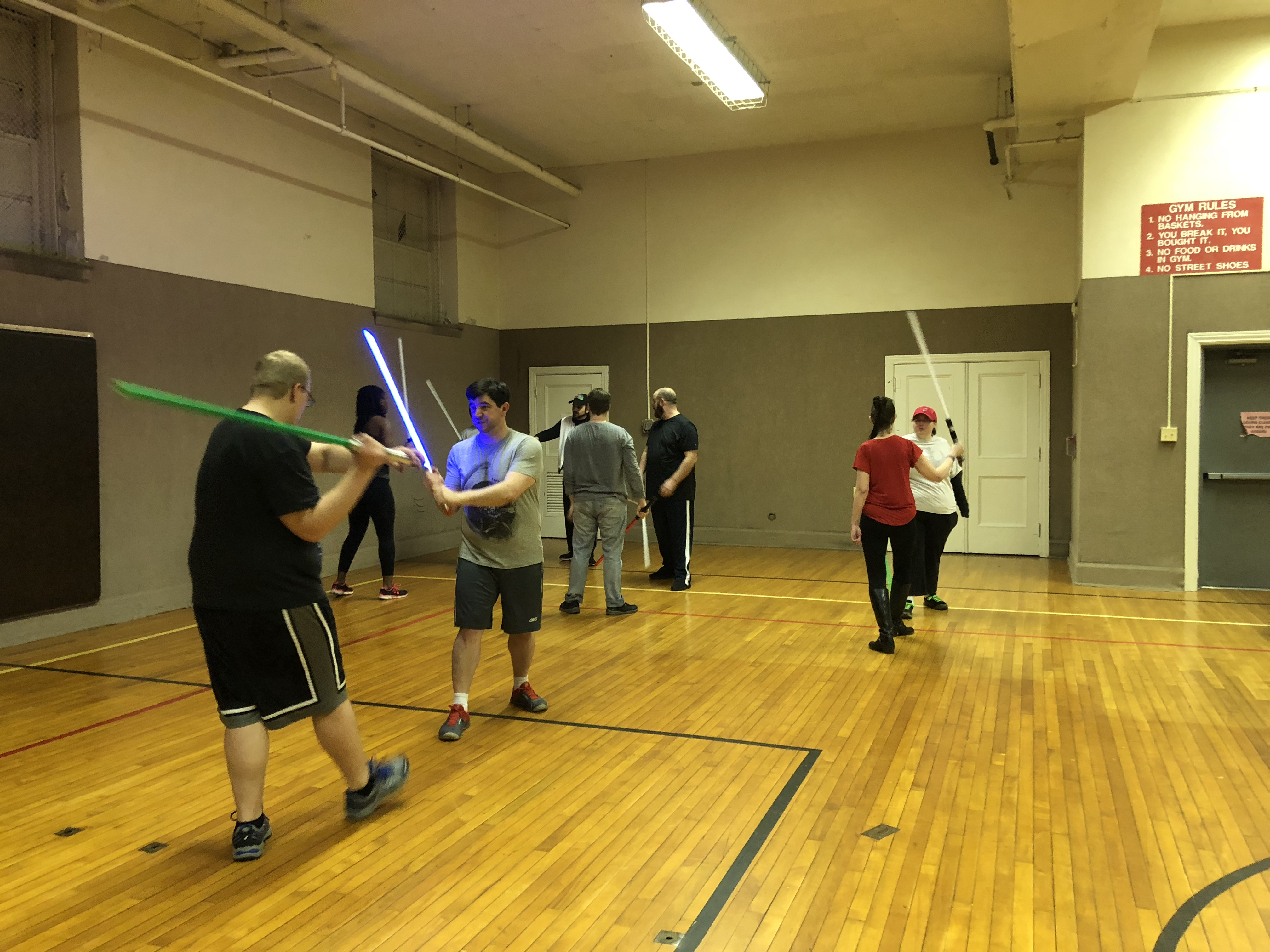 Capital City Jedi Knights practice saber moves